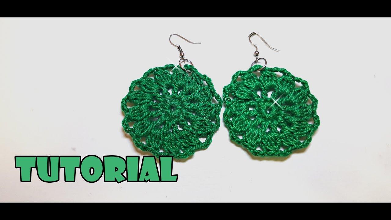 Tutorial Orecchini Alluncinetto Primaverili Facili Spring Crochet