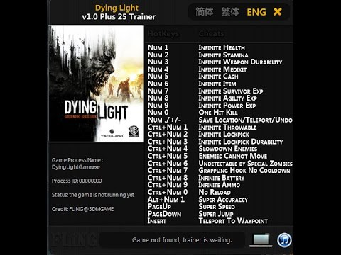 dying light trainer 1.6.1
