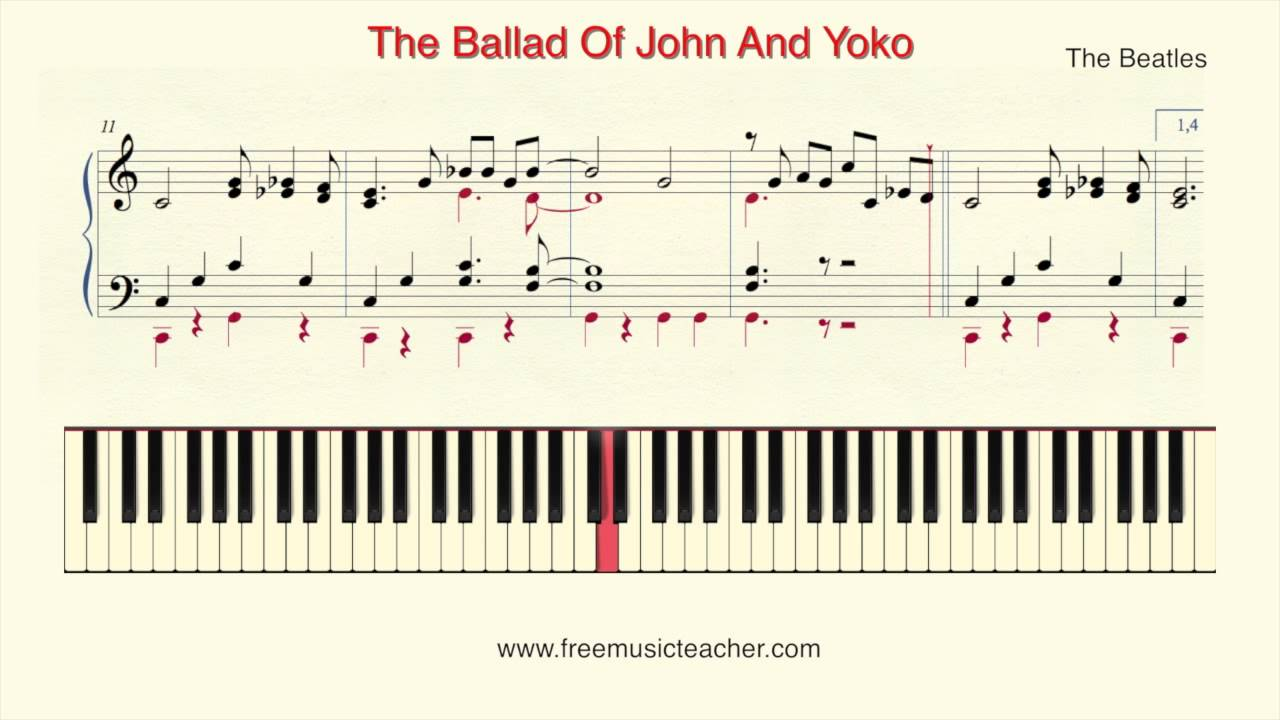 How to play piano the beatles the ballad of john and yoko piano how to play piano the beatles the ballad of john and yoko piano tutorial by ramin yousefi hexwebz Gallery