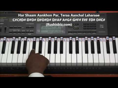 Pal Pal Dil Ke Paas (Piano Tutorials) - Black Mail
