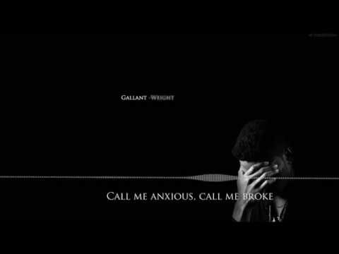 Gallant - Weight in Gold (Lyric Video)