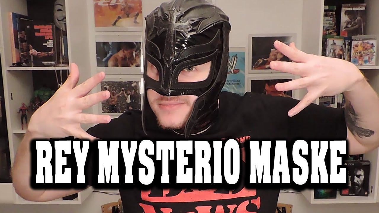 wwe rey mysterio replica schwarze maske review black mask deutsch youtube. Black Bedroom Furniture Sets. Home Design Ideas