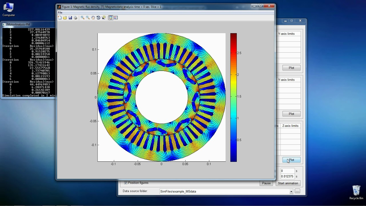 Motoranalysis Pm Free Software For Design And Analysis Of Permanent Magnet Machines Youtube