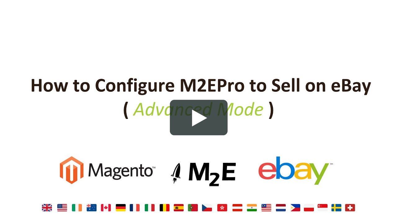 How To Configure M2epro To Sell On Ebay (advanced Mode)