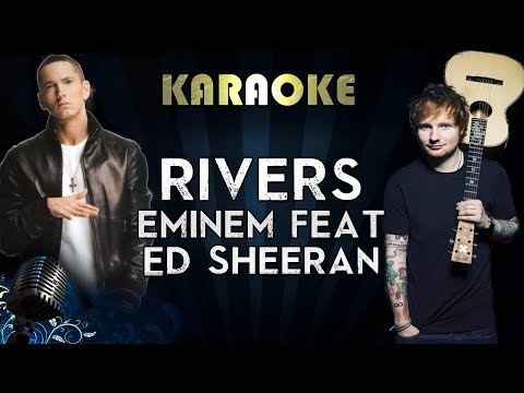 Eminem - River Ft. Ed Sheeran | Official Karaoke Instrumental Lyrics Cover Sing Along