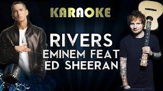 Eminem - River Ft. Ed Sheeran | Official Karaoke Instrumental Lyrics Cover Sing Along