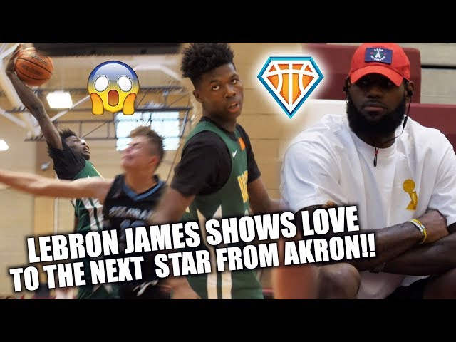 3623a56bc3b4 LOOK  LeBron James shouts out supposed next great Akron hooper