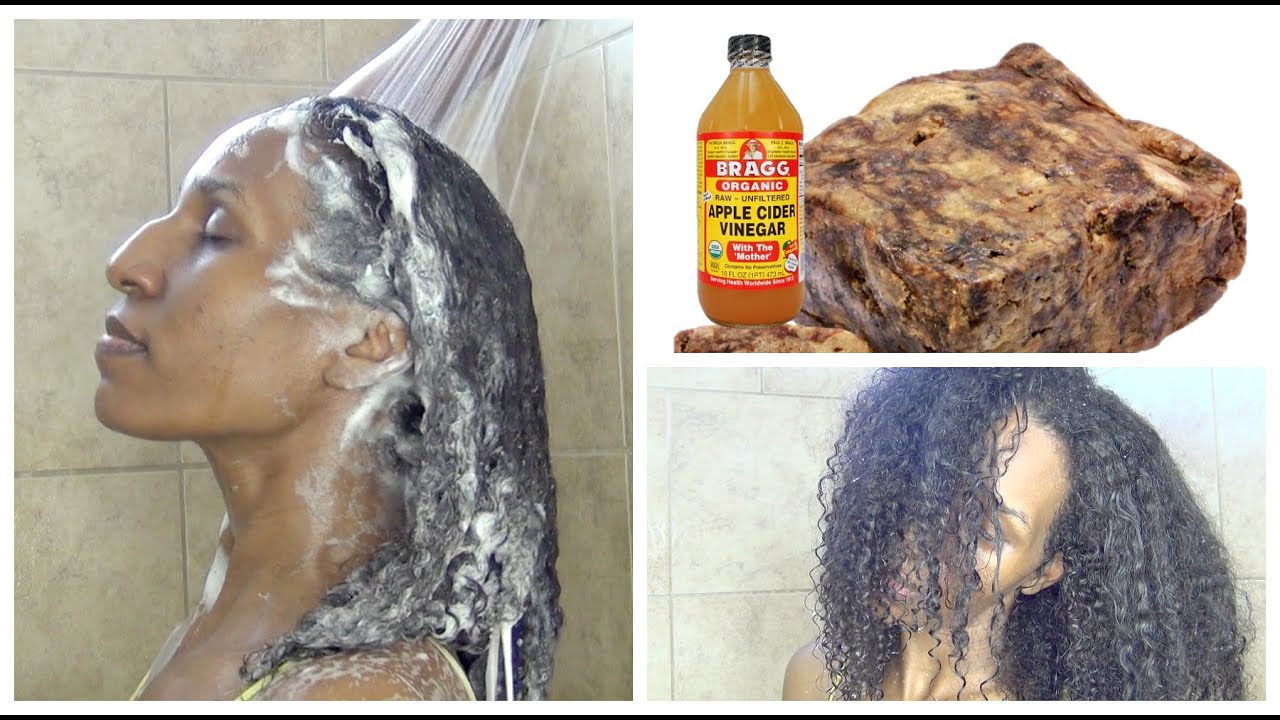 Black soap to wash hair