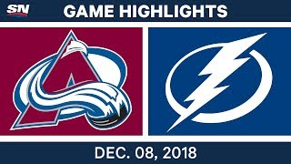 NHL Highlights | Avalanche vs. Lightning - Dec 8, 2018
