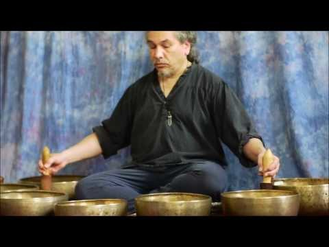 Giant Himalayan Double Spinning OM Bowls ~ Full 7 Note Chakra Meditation