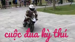cuộc đua kỳ thú|| xe moto siêu nhỏ ra đường đua nẹt pô||thử thách vui