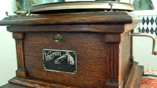"Billy Murray sings ""Under the Anheuser Bush""  Victor II Gramophone 1909"
