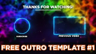 FREE OUTRO TEMPLATE | ADOBE AFTER EFFECTS TEMPLATE #1