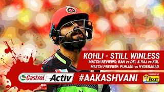 #IPL2019: KOHLI still WINLESS: 'Castrol Activ' #AakashVani, powered by 'Dr. Fixit'