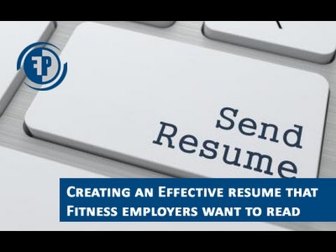 How To Put Together An Awesome Personal Training Resume For Your First Job!