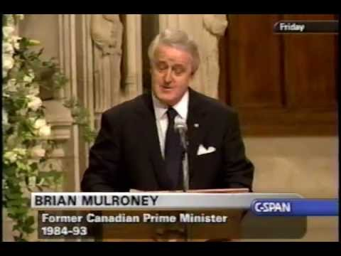 Funeral of Ronald Reagan, 2004-06-11 Part 8 (Brian Mulroney)
