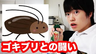 【閲覧注意】マスオ、ゴキブリと闘い、パニック!