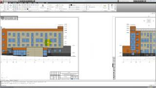 3d max  autocad - моделирование здания по чертежам фасадов часть 1