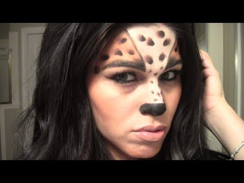 cute cheetahleopard halloween makeup youtube