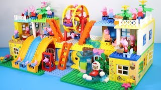 Peppa Pig Lego House Creations With Water Slide Toys For Kids #6