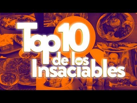 Los 10 mejores restaurantes de esta temporada. LOS INSACIABLES TOP 10