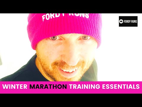 Winter Marathon Training Essential Gear