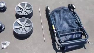 Wonder Wheeler Wide Folding Beach Cart