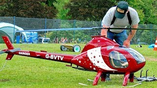 AMAZING BIG RC EXEC-90 ROTORWAY SCALE MODEL ELECTRIC HELICOPTER FLIGHT DEMONSTRATION