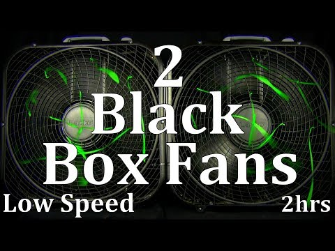 "2 Black Box Fans Low Speed 2hrs ""Sleep Sounds"" ASMR"