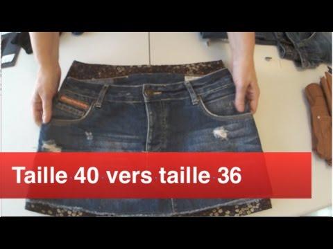 Passer d 39 une taille 40 une taille 36 sur une jupe youtube for Taille d un albizia