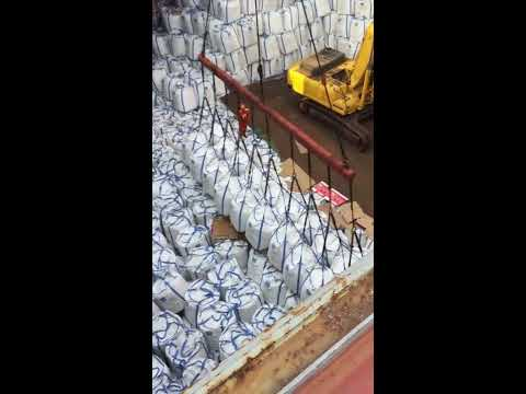 Loading Calcium Chloride at Qingdao Port