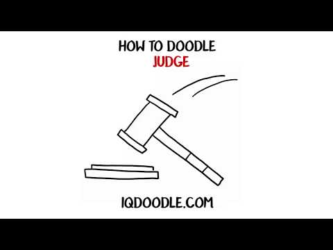 How to Draw Judge or Judgment (drawing tips)