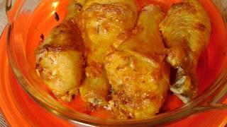 Куриные голени запеченные в духовке с майонезом, чесноком и специями