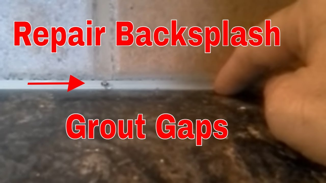 - How To Repair A Kitchen Tile Backsplash Gap With Grout - YouTube