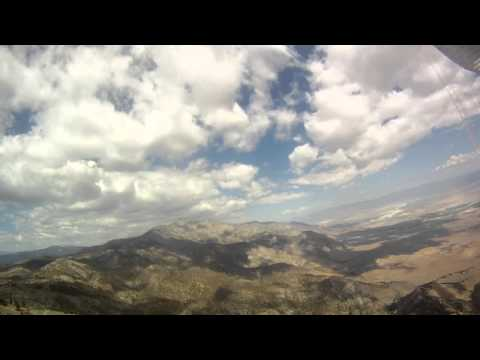 Flight from Nine Mile to Walts in Owens valley