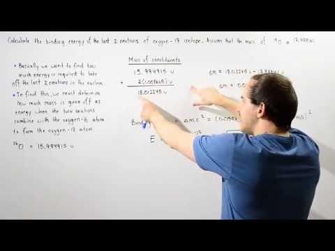 Binding Energy of Oxygen Isotope