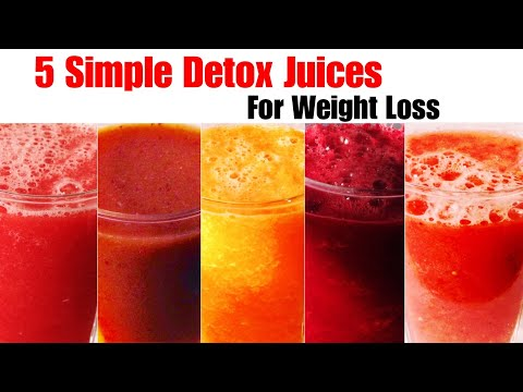 5 Detox Juice Recipe | How To Make Detox Juice For Weight Loss | Fat Cutter, Flat Belly Juices