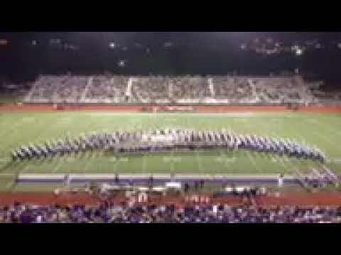 PNMS Band play with the Port Neches groves high school 10-5-18 (paint it black)