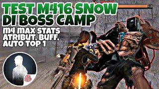 TEST M416 SNOW ELITE MAX STATS DI BOSS CAMP LV. 12 | LIFEAFTER INDONESIA