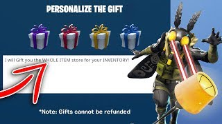 I will GIFT you the WHOLE ITEM SHOP for your inventory in Fortnite!
