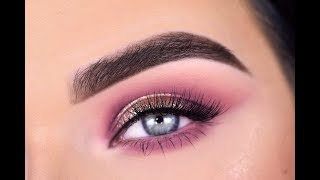 Huda Beauty NUDE Palette + Marc Jacobs See-Quins Glitter | Eyeshadow Tutorial