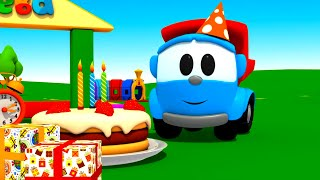 Pequeño Leo - Pastel de Cumpleaños - Carros - Carritos para niños - Camiones infantiles