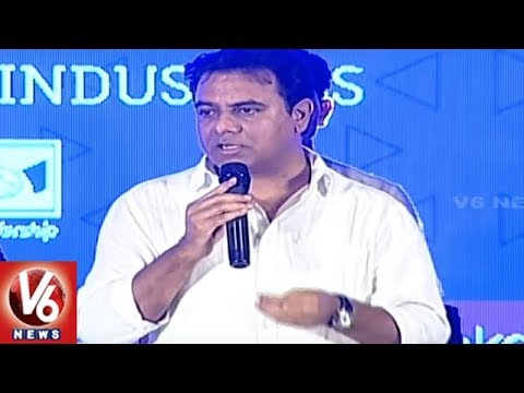 Minister KTR Speech At T-Pride Awards 2018 Ceremony In Ravindra Bharathi | Hyderabad | V6 News