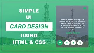 how to create the UI Card Design Using HTML & CSS  - Card Design - UI Card Design