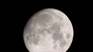 International Space Station ISS passes across the Moon 1/21/2016