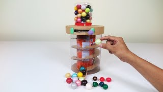 How to reuse old Bottle and Cardboard to make a BUBBLE GUMBALL Machine ( Best out of waste )