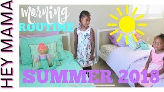 MORNING ROUTINE FOR SUMMER 2018 I SAHM WITH 5 KIDS I KIDS ROUTINE 2018