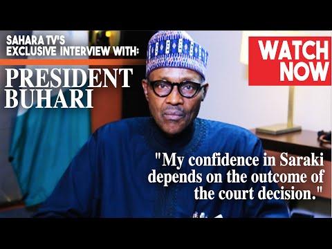 Video: President Buhari Finally Opens Up On Saraki's Corruption Trial