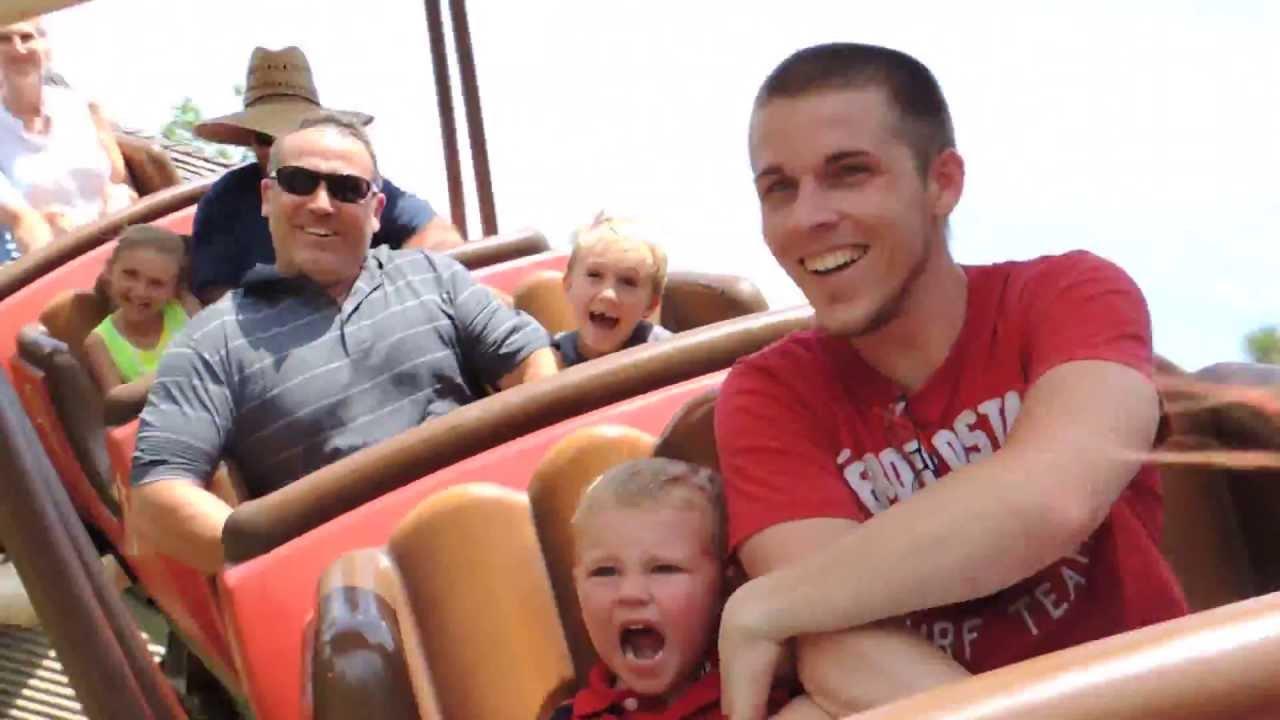 3 year old Bricen\'s first roller coaster ride at Disney World Magic ...