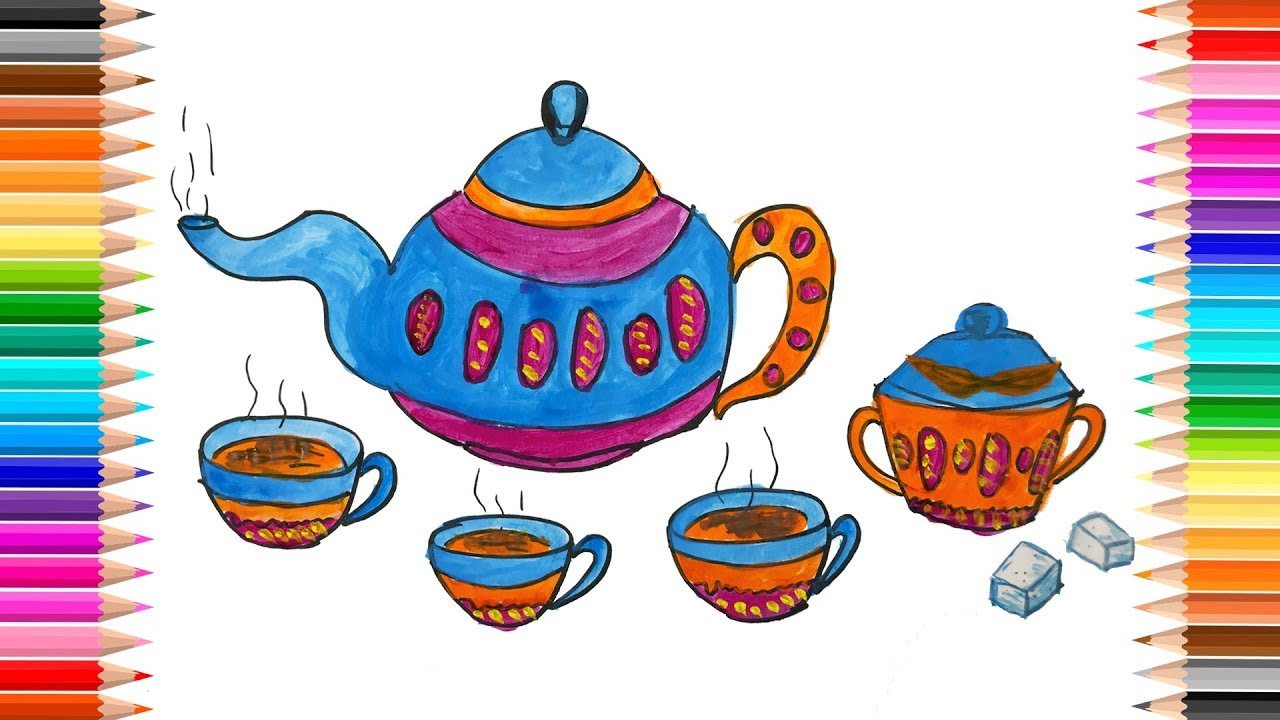 Hedgehog In Teacup With Leaves Coloring Page • FREE Printable PDF ... | 720x1280